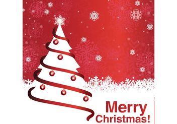 Merry Christmas Tree Background - vector gratuit #153481
