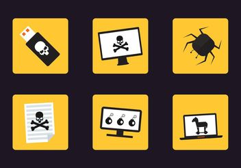 Cyber Attack Vector Icons - Kostenloses vector #153861