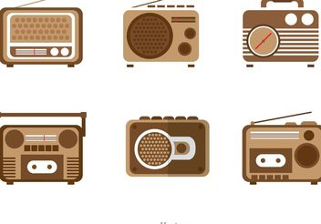 Retro Radio Vectors Pack - Free vector #153871