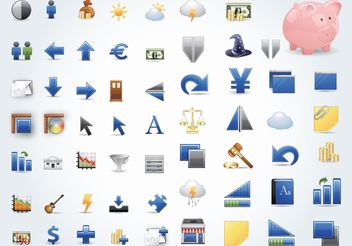 Finance Icons - vector #153921 gratis