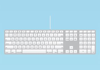 Apple Keyboard - vector gratuit #153971