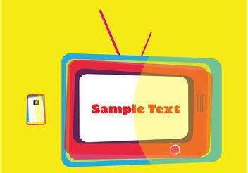 Retro TV Design - Free vector #154171