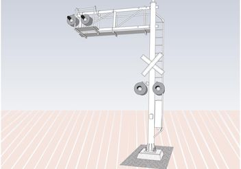 Railway Cantilever - Free vector #154221