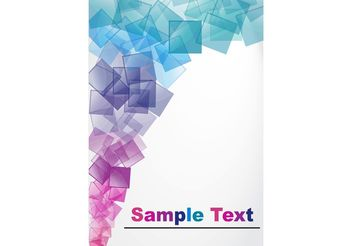 Abstract Vector Background With Blocks - Free vector #154511