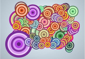 Pop Art Circles - vector gratuit #154601