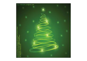 Abstract Christmas Tree Background 2 - vector gratuit #154651