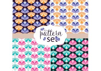 Retro Pattern Set - Free vector #154691