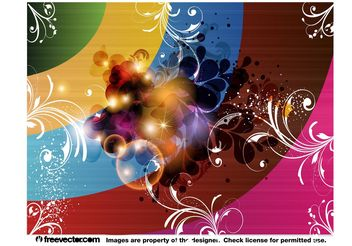 Abstract Floral Lighting - vector #154721 gratis