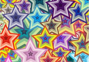 Colorful Stars Background - Free vector #154881
