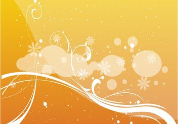 Abstract Floral Vector - Free vector #154931