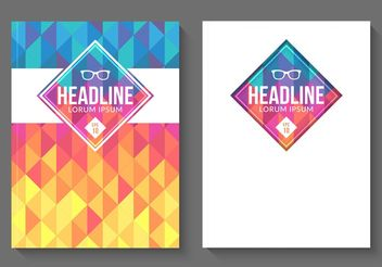 Free Vector Geometric Magazine Covers - vector gratuit #155091