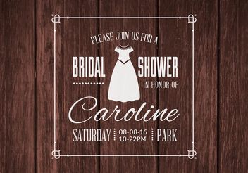 Free Bridal Shower Vector Invitation - Free vector #155111