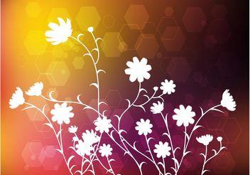 Modern Floral Design - Kostenloses vector #155161
