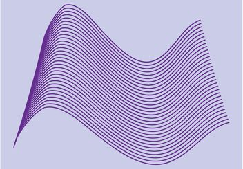 Wireframe Wave - vector gratuit #155281