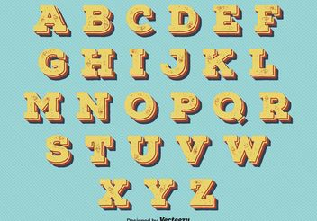 Vintage Retro Style Alphabet - Kostenloses vector #155361