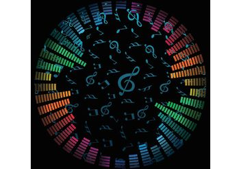 Music Notes Vector Background - Free vector #155401