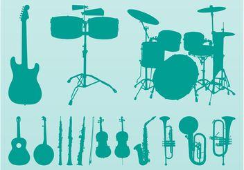 Musical Instruments Vectors - Free vector #155441