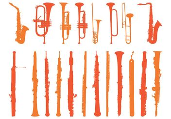 Wind Instruments Set - vector gratuit #155471