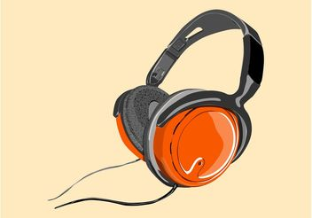 Shiny Headphones - Free vector #155491
