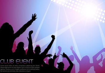 Free Night Music Club Life Vector Poster - Free vector #155501