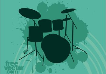 Drum Set Vector - Free vector #155521