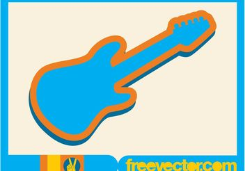 Electric Guitar Icon - Free vector #155611