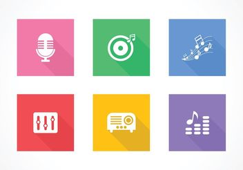 Free Flat Music Vector Icons - бесплатный vector #155661