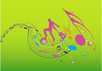 Colorful Music Design - vector gratuit #155681
