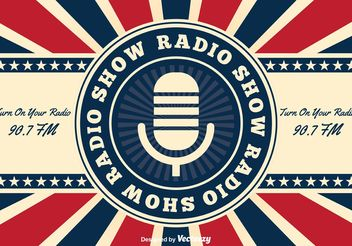 Retro American Radio Show Background - vector gratuit #155741