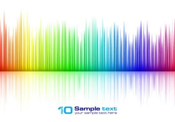 Free Vector Colorful Music Equalizer - Kostenloses vector #155781