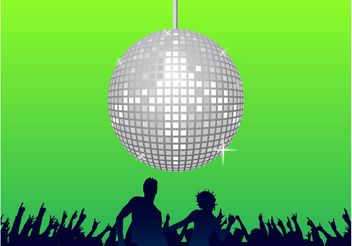 Disco Party - vector gratuit #155991