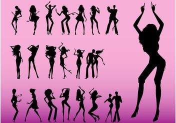 Dancers Graphics - vector gratuit #156041