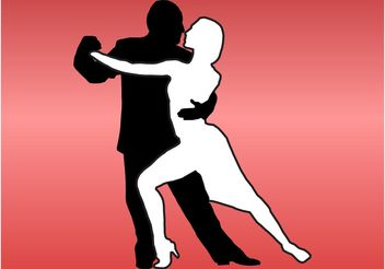 Tango Couple - vector gratuit #156061