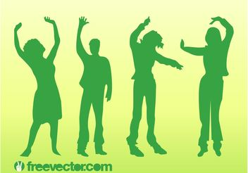 Dancing Vector People - vector gratuit #156081