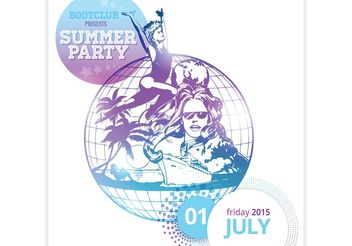 Free Summer Party Poster Vector - Free vector #156111