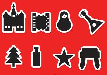 Russian Vector Icons - Free vector #156161