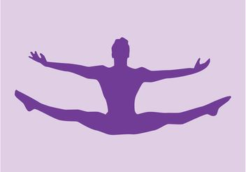 Jumping Ballerina - vector gratuit #156261