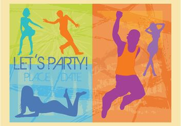 Party Invitation - vector gratuit #156271