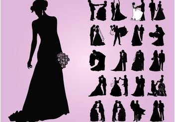 Wedding Designs - Free vector #156291