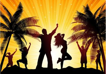 Beach Party Vector - Free vector #156321