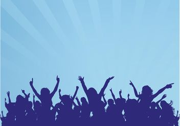 Dancing Crowd Graphics - vector gratuit #156351