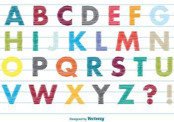 Scribble Style Alphabet - Free vector #156631