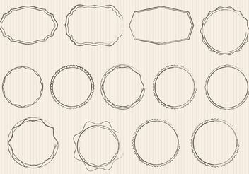Sketchy Ornament Vectors and Badges - Free vector #156771