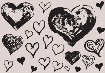 Free Grunge Heart Vectors - Kostenloses vector #156781