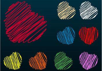 Heart Scribbles - Free vector #156831