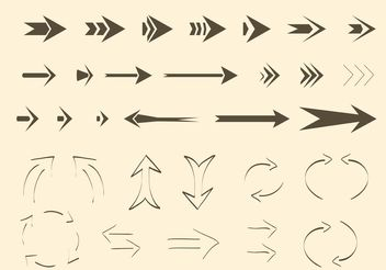 Free Vector Arrows and Lines - Kostenloses vector #156911