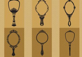Hand Drawn Vintage Hand Mirror Vectors - Free vector #156951
