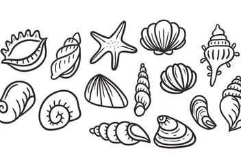 Free Pearl Shell Vectors - Free vector #156991
