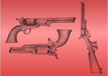 Vintage Guns - vector gratuit #157051