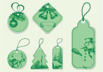 Vintage Christmas Vectors - vector gratuit #157141